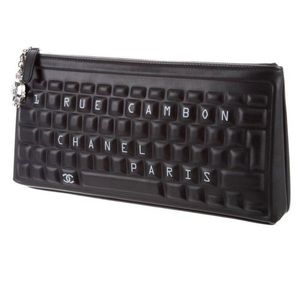 Chanel keyboard clutch